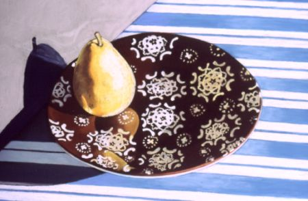 Pear On Floating Plate